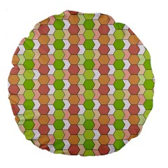 Allover Graphic Red Green 18  Premium Round Cushion