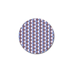 Allover Graphic Blue Brown Golf Ball Marker 10 Pack by ImpressiveMoments