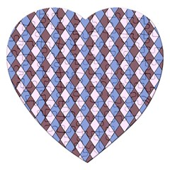 Allover Graphic Blue Brown Jigsaw Puzzle (heart) by ImpressiveMoments