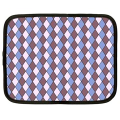 Allover Graphic Blue Brown Netbook Sleeve (xxl) by ImpressiveMoments