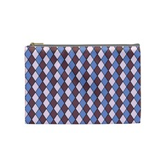 Allover Graphic Blue Brown Cosmetic Bag (medium) by ImpressiveMoments