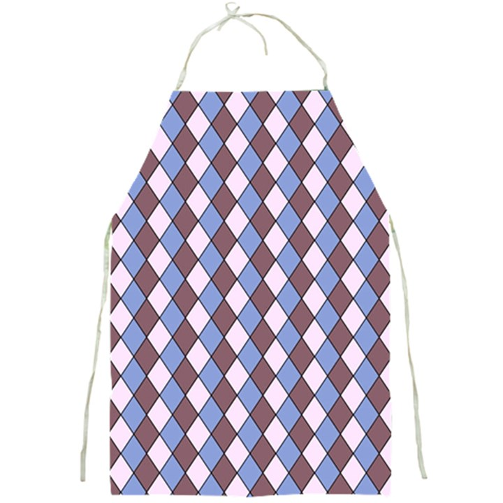 Allover Graphic Blue Brown Apron