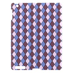 Allover Graphic Blue Brown Apple iPad 3/4 Hardshell Case by ImpressiveMoments