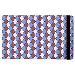 Allover Graphic Blue Brown Apple Ipad 3/4 Flip Case by ImpressiveMoments