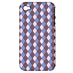 Allover Graphic Blue Brown Apple Iphone 4/4s Hardshell Case (pc+silicone) by ImpressiveMoments