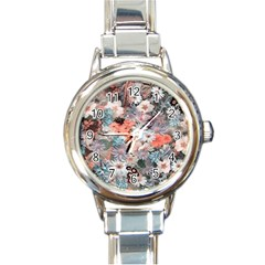 Spring Flowers Round Italian Charm Watch by ImpressiveMoments