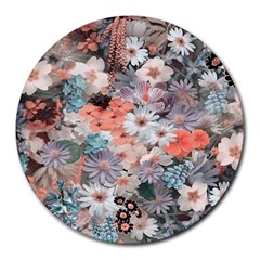 Spring Flowers 8  Mouse Pad (round) by ImpressiveMoments