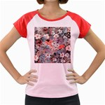 Spring Flowers Women s Cap Sleeve T-Shirt (Colored)
