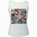 Spring Flowers Womens  Tank Top (White)