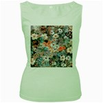 Spring Flowers Womens  Tank Top (Green)