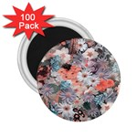 Spring Flowers 2.25  Button Magnet (100 pack)