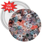 Spring Flowers 3  Button (100 pack)