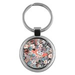 Spring Flowers Key Chain (Round)