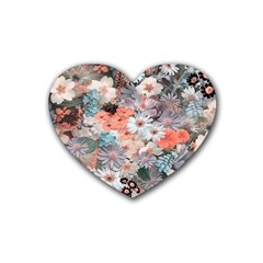 Spring Flowers Drink Coasters (heart) by ImpressiveMoments