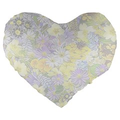 Spring Flowers Soft 19  Premium Heart Shape Cushion by ImpressiveMoments