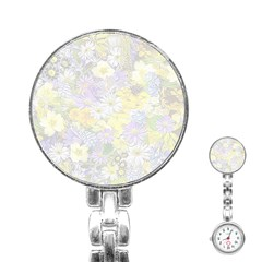 Spring Flowers Soft Stainless Steel Nurses Watch by ImpressiveMoments