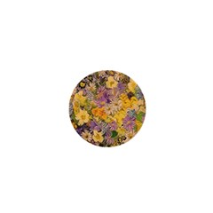 Spring Flowers Effect 1  Mini Button by ImpressiveMoments