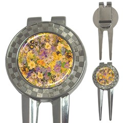 Spring Flowers Effect Golf Pitchfork & Ball Marker by ImpressiveMoments