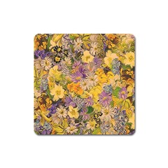 Spring Flowers Effect Magnet (square) by ImpressiveMoments