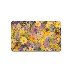 Spring Flowers Effect Magnet (name Card)