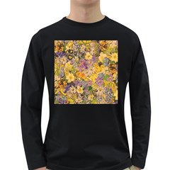 Spring Flowers Effect Mens' Long Sleeve T Shirt (dark Colored) by ImpressiveMoments