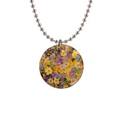 Spring Flowers Effect Button Necklace by ImpressiveMoments