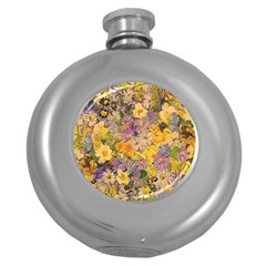 Spring Flowers Effect Hip Flask (round) by ImpressiveMoments