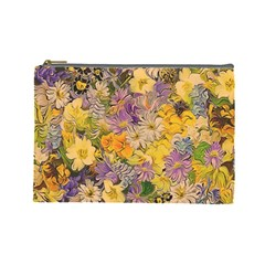 Spring Flowers Effect Cosmetic Bag (large) by ImpressiveMoments