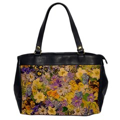 Spring Flowers Effect Oversize Office Handbag (one Side) by ImpressiveMoments