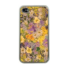 Spring Flowers Effect Apple Iphone 4 Case (clear) by ImpressiveMoments