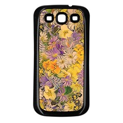 Spring Flowers Effect Samsung Galaxy S3 Back Case (black) by ImpressiveMoments