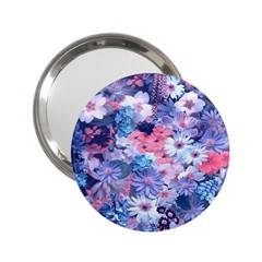Spring Flowers Blue Handbag Mirror (2.25 ) by ImpressiveMoments