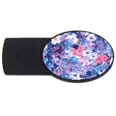 Spring Flowers Blue 2gb Usb Flash Drive (oval) by ImpressiveMoments