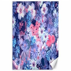 Spring Flowers Blue Canvas 24  X 36  (unframed) by ImpressiveMoments
