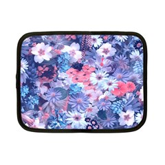 Spring Flowers Blue Netbook Sleeve (small) by ImpressiveMoments