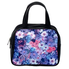 Spring Flowers Blue Classic Handbag (one Side) by ImpressiveMoments
