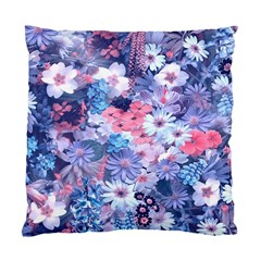 Spring Flowers Blue Cushion Case (two Sided)