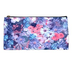 Spring Flowers Blue Pencil Case by ImpressiveMoments