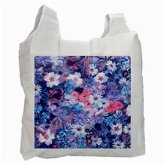 Spring Flowers Blue Recycle Bag (one Side) by ImpressiveMoments
