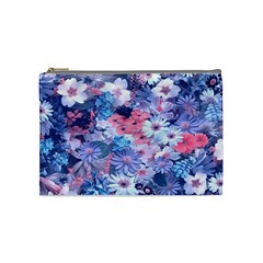 Spring Flowers Blue Cosmetic Bag (medium) by ImpressiveMoments