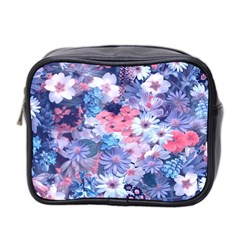 Spring Flowers Blue Mini Travel Toiletry Bag (two Sides) by ImpressiveMoments