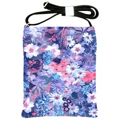 Spring Flowers Blue Shoulder Sling Bag by ImpressiveMoments