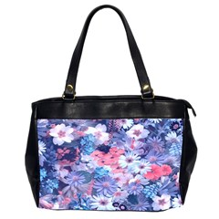 Spring Flowers Blue Oversize Office Handbag (two Sides) by ImpressiveMoments