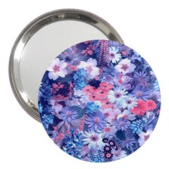 Spring Flowers Blue 3  Handbag Mirror by ImpressiveMoments