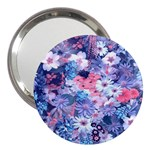 Spring Flowers Blue 3  Handbag Mirror Front