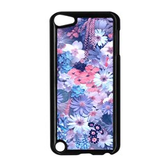 Spring Flowers Blue Apple Ipod Touch 5 Case (black) by ImpressiveMoments