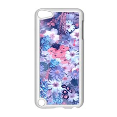 Spring Flowers Blue Apple Ipod Touch 5 Case (white) by ImpressiveMoments
