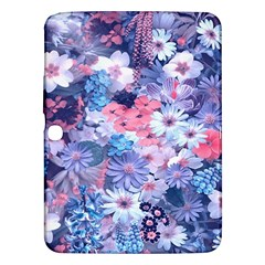 Spring Flowers Blue Samsung Galaxy Tab 3 (10 1 ) P5200 Hardshell Case  by ImpressiveMoments