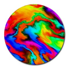 Crazy Effects  8  Mouse Pad (round) by ImpressiveMoments