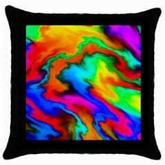 Crazy Effects  Black Throw Pillow Case by ImpressiveMoments